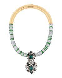 Shourouk - Green Necklaces - Lyst