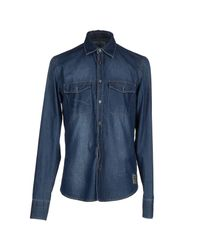 Dekker - Blue Denim Shirt for Men - Lyst