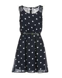 ONLY - Blue Short Dress - Lyst