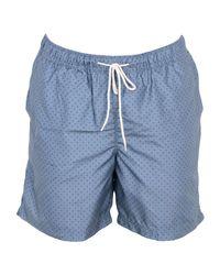 SELECTED - Blue Swim Trunks for Men - Lyst
