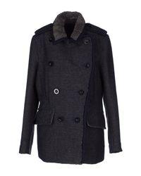 Sacai | Gray Coat | Lyst