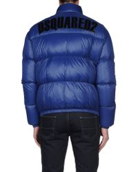 DSquared² - Blue Down Jacket for Men - Lyst