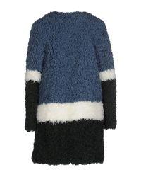 Shrimps | Blue Faux Shearling Coat | Lyst