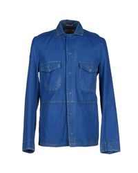 CYCLE - Blue Jacket for Men - Lyst