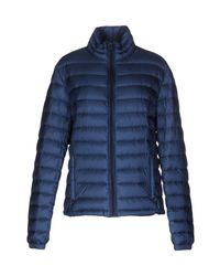 Woolrich - Blue Down Jacket - Lyst