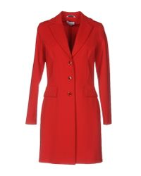 Piu & Piu | Red Overcoat | Lyst