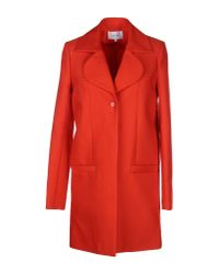 Carven | Orange Coat | Lyst