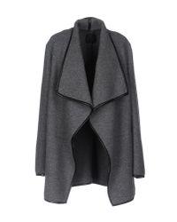Agnona - Gray Coat - Lyst