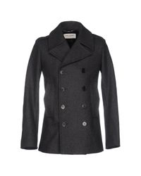 Saint Laurent | Gray Coat for Men | Lyst