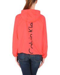 Calvin Klein - Red Jacket - Lyst