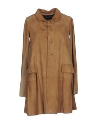 Twin Set - Natural Overcoat - Lyst