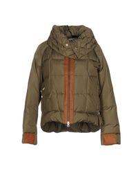 Henry Cotton's | Green Down Jacket | Lyst