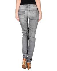 DIESEL - Gray Denim Trousers - Lyst