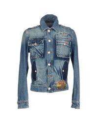 Frankie Morello - Blue Denim Outerwear for Men - Lyst