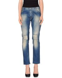 HTC - Blue Denim Pants - Lyst