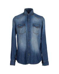 Baldessarini | Blue Denim Shirt for Men | Lyst