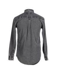 Cheap Monday - Gray Denim Shirt for Men - Lyst