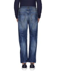 Golden Goose Deluxe Brand - Blue Denim Pants for Men - Lyst