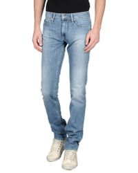 Gas | Blue Denim Trousers for Men | Lyst