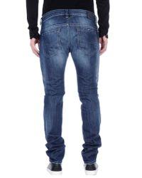 DIESEL - Blue Denim Pants for Men - Lyst