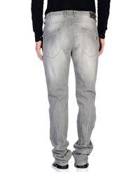 Daniele Alessandrini - Gray Denim Trousers for Men - Lyst