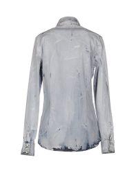 Aglini - Blue Denim Shirt - Lyst