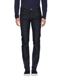 Officina 36 | Blue Denim Pants for Men | Lyst