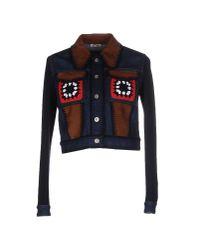 Miu Miu - Blue Denim Outerwear - Lyst