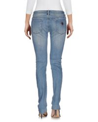 Roxy - Blue Denim Pants - Lyst