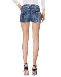 Met - Blue Denim Shorts - Lyst