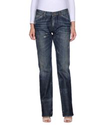 Dolce & Gabbana | Blue Stretch Denim Giselle Jeans | Lyst