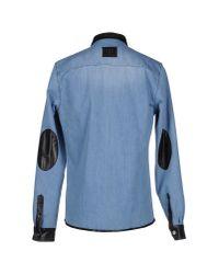 Les Éclaires - Blue Denim Shirt for Men - Lyst