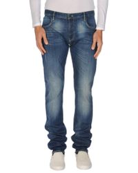 Love Moschino | Blue Denim Pants for Men | Lyst