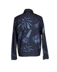 MSGM - Blue Denim Outerwear for Men - Lyst