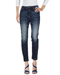 DIESEL - Blue Denim Pants - Lyst