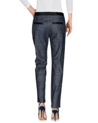 MM6 by Maison Martin Margiela - Blue Denim Pants - Lyst