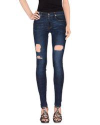 April77 - Blue Denim Trousers - Lyst