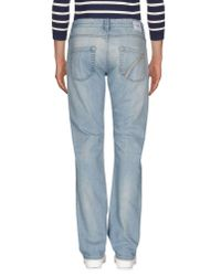 Camouflage AR and J. - Blue Denim Trousers for Men - Lyst