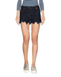 Boutique Moschino - Blue Denim Shorts - Lyst