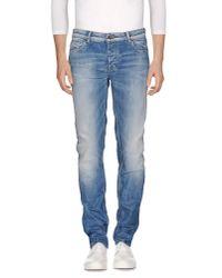 Fred Mello - Blue Denim Trousers for Men - Lyst