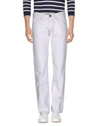 Armani Jeans | White Denim Pants for Men | Lyst