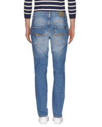 Nudie Jeans - Blue Denim Pants for Men - Lyst