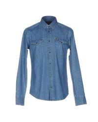 7 For All Mankind - Blue Denim Shirt for Men - Lyst