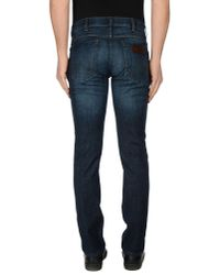 Wrangler - Blue Denim Pants for Men - Lyst