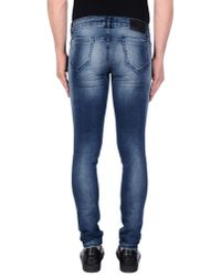 Balmain - Blue Denim Trousers for Men - Lyst
