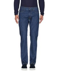Incotex - Blue Denim Pants for Men - Lyst