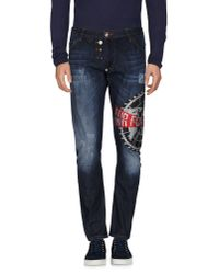 Philipp Plein - Blue Denim Pants for Men - Lyst