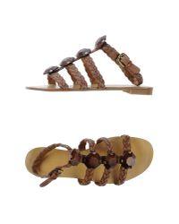 Nine West | Brown Sandals | Lyst