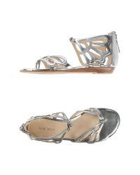 Nine West   Metallic Toe Strap Sandal   Lyst
