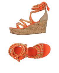 Tory Burch - Orange Sandals - Lyst